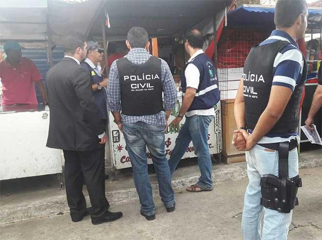 Mercado da Quatro, alvo da ação policial