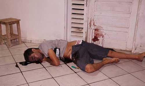 Douglas foi morto por disparo de arma de fogo nas costas (Foto: O Câmera).