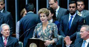 Dilma leu a mensagem presidencial durante a sessão de abertura dos trabalhos legislativos (Foto: Agência Câmara)