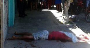 Alisson Washington Fausto Montenegro, de 22 anos, foi morto por disparos de arma de fogo (Foto: Luciano Lellys).