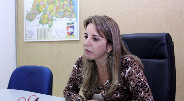 Secretária Kalina Leite, concedeu coletiva para falar da violência em Mossoró