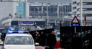 O aeroporto internacional de Bruxelas, na Bélgica, foi evacuado após duas fortes explosões que deixaram pelo menos 13 mortos Jonas Roosens/Agência Lusa