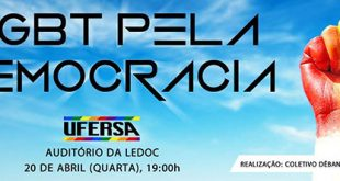 Ato LGBT pela Democracia será realizado na Ufersa nesta quarta-feira.