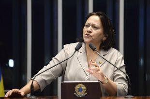 """Fátima afirma que """"golpistas"""" serão julgados pela história Foto: Geraldo Magela/Agência Senado"""