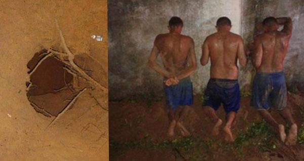 Homens da Força Nacional conseguiram recapturar três detentos (Foto: Divulgação - Força Nacional).