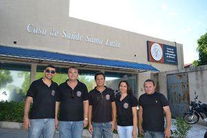 Conselheiros tutelares de Almino Afonso ajudam na campanha de doação para Marcos Paulo (Foto: Luciano Lellys).