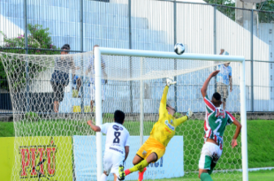 Boa atuação do goleiro Érico não salva do Baraúnas. (Foto: Ana Silva/Tribuna do Norte/ACECB).