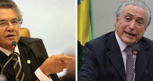 No texto, Marco Aurélio chegou a dizer que não analisou a conduta do vice-presidente.