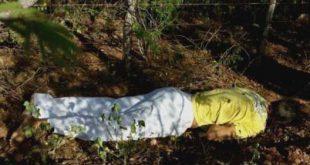 Corpo de Wanderson Aureliano dos Santos estava em estrada carroçável que dá acesso ao sitio Santana (Foto: Fim da Linha).