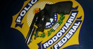 Arma apreendida pela PRF