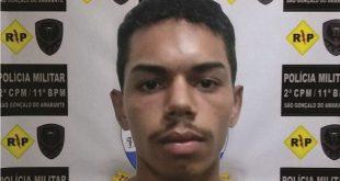 Deyvison Mateus Silva Santos, 21, foi preso em São Gonçalo do Amarante