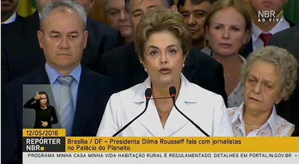 Em pronunciamento, Dilma ressalta que não cometeu crime de responsabilidade e nem tem contas no exterior.