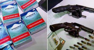 Trio roubou 10 caixas de viagra e pertences de duas clientes (Foto: Reprodução/Inter TV Cabugi)