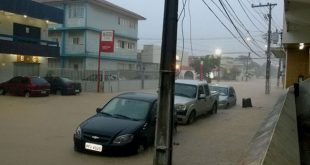 Em seis horas, choveu 200 milímetros, volume equivalente a 67% do esperado para todo o mês de maio (Foto: reprodução Whatsapp).