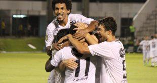 Jogadores comemoram gol e segundo jogo será no Frasqueirão. (Foto: abcfc.com.br).