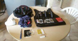 Material apreendido com os suspeitos em Rio do Fogo (Foto: Divulgação PM)