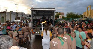 Na recepção da Tocha Olímpica não faltou dinheiro. (Foto: |Luciano Lellys).