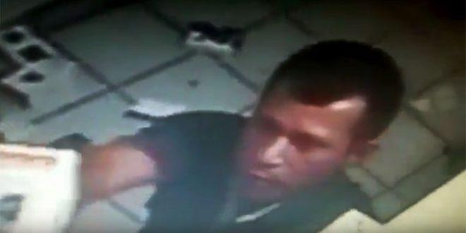 Defur Mossoró tenta identificar o criminoso filmado pelas câmeras da loja.