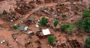 Rompimento da barragem do Fundão devastou a cidade de Mariana (MG) em novembro do ano passado (Foto:AFP).