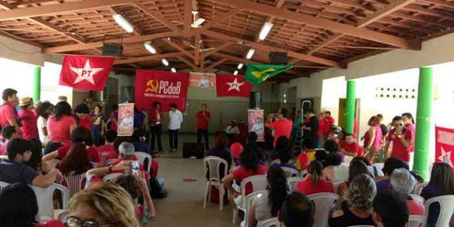 A convenção reuniu cerca de 250 pessoas, segundo estimativa do PCdoB.
