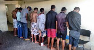 Todos os detidos estão sendo apresentados à Polícia Civil que está realizando os procedimentos necessários para elucidar cada caso (Foto: Divulgação Sesed).