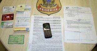 A PF foi acionada após os funcionários do INSS perceberem fortes indícios de falsificação de documentos pelos acusados (Foto: Divulgação PF).