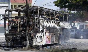 Ônibus queimado em Natal