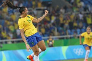 Futebol feminino do Brasil avança de fase com melhor campanha. (Foto: Ricardo Stuckert/CBF).