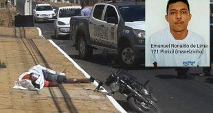 Emanuel Ronaldo morreu antes da chegada do socorro médico (Foto: Luciano Lellys).