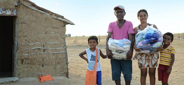 A meta da campanha é arrecadar mais de 900 mil quilos de alimentos, que serão distribuídos em cestas (Foto: Divulgação LBV).