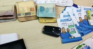 Carlinhos (PRB), atual vice-prefeito da cidade, estava com lista de valores a serem pagos a eleitores e dinheiro fracionado (Foto: Divulgação/PM).