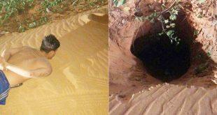 Presos fugiram por um buraco (Foto: Divulgação PM)