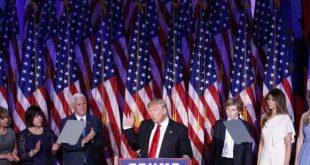 Trump adotou tom conciliador e elogiou Hillary em seu primeiro discurso (Foto: Shawn Thew / EPA / Lusa).