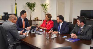 Reunião com o ministro dos Esportes, Leonardo Picciani, discutiu a construção de um Parque Poliesportivo na UERN (Foto: Assessoria Beto Rosado).