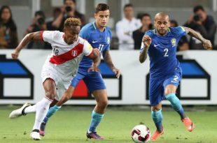 Brasil e Peru fizeram um jogo bem equilibrado em Lima (Foto: Ernesto Arias/Agência Lusa).
