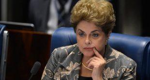 No dia 31 de agosto, o então presidente do STF, Ricardo Lewandowski, comandou a sessão em que 61 senadores votam pelo afastamento de Dilma Rousseff (Foto: ABr).
