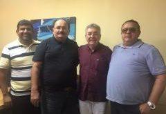 Dirigentes da FNF e do Potiguar se encontraram em Natal. (Foto: Assessoria de Comunicação da FNF).
