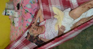 Cilindro de Oxigênio que sustenta a vida de Rita Regina está a dois pontos de acabar (Foto: Luciano Lellys).