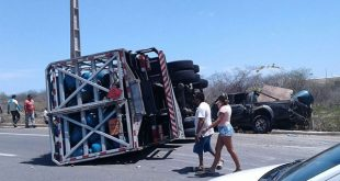 Ainda não há informações sobre vítimas e nem sobre o que causou o acidente (Foto: Divulgação PRF).