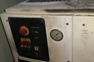 Os bandidos jogaram gasolina na usina, que fica dentro do muro da UPA, e atearam fogo (Foto: Redes sociais).