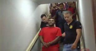 Ronilson Marcílio Alves, acusado de extorsão contra um padre, voltou para o presídio após a posse (Foto: Reprodução Caratinga Super).