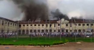 Detentos atearam fogo em colchões (Foto: Reprodução UOL).