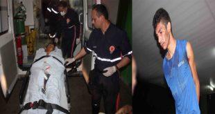 Os criminosos estavam em uma motocicleta roubada. Os dois foram presos (Foto: O Câmera).