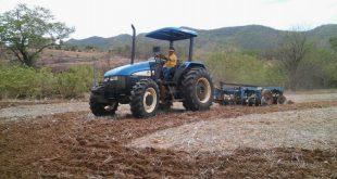 Preparo da terra foi iniciado na segunda-feira no município de Encanto