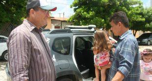 Viaturas foram entregues ao prefeito Juninho Alves e ao vice prefeito Paulo Brasil