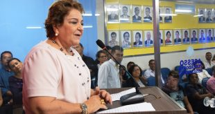 Sandra Rosado se pronuncia na Câmara - Foto Edilberto Barros