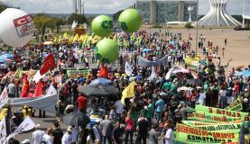 As duas maiores centrais sindicais do país -Central Única dos Trabalhadores (CUT) e Força Sindical - consideraram exitosa a greveJosé Cruz/AgenciaBrasil