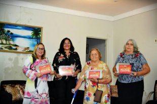 Grandes e bravas personalidades apodienses sendo homenageadas com a comenda Luíza Cantofa: Doutora Solange Noronha, Concilma Fernandes, Zulmira Gurgel e Cuta de Décio.