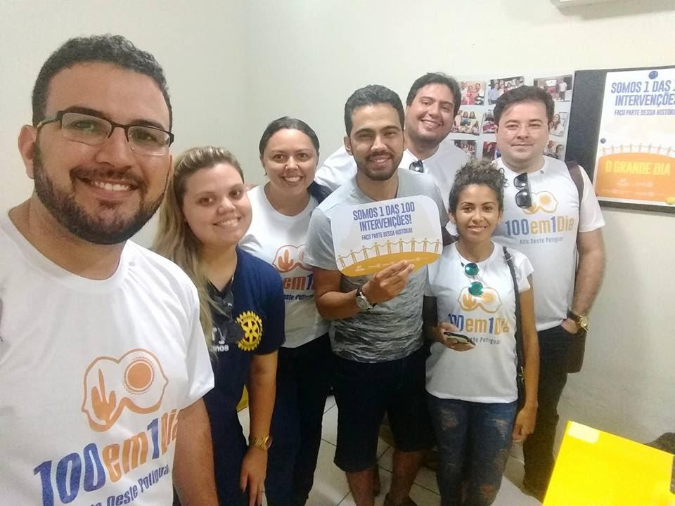 Equipe do Rotary, Rotaract e Interact comprometidos com a cidadania.