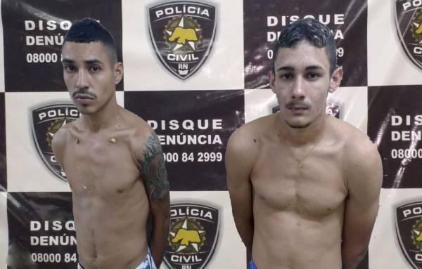 Renato Jonathan Alves Fernandes e Antônio Lucas da Silva Gonçalves são acusados de roubar uma Hilux na segunda feira (Foto: Fim da Linha).